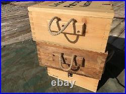 1943 WWII German Luftdichter Patronen-kasten ammo crate wood box repro from org