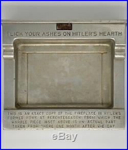 1946 Weatherhead Ashtray BERCHTESGADEN FLICK YOUR ASHES ON HITLERS HEARTH