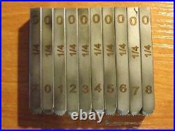 1/4 inch Number Stamp Set for Harley Davidson Punch dot