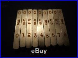 3/16 inch Number Stamp Set for Harley Davidson Punch WLA WLC