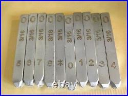 3/16 inch Number Stamp Set for Harley Davidson Punch dot