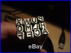 3/16 inch letters SET Stamp for Harley Davidson Punch WLA WLC