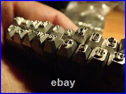 A set of stamps for German dog tags Lowercase letters 4 mm