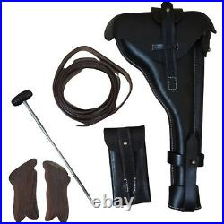 Artillery Luger P08 Holster 8 Barrel withCleaning Rod+Take Tool & Grips-Repro Z13