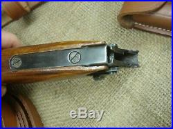 Artillery Luger reproduction stock and leather harness