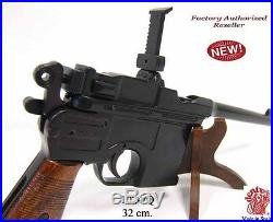 Authentic Gun WWII 1896 Mauser Automatic Pistol Non Firing With Laquered Grips