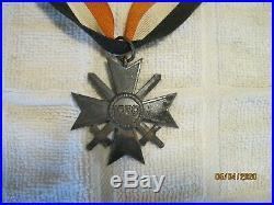 Authentic Original German War Merit Cross with Swords Medal
