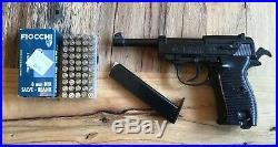 BBM Authentic Replica Gun WWII Luger P38 Semi-Automatic Blank Pistol Prop