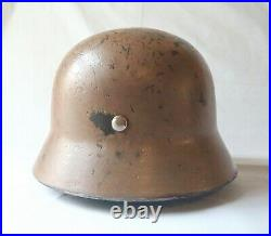 DAK Afrikakorps Camo Size 66 M40 Helmet (Restored) German Made Heavy & Strong