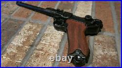 DENIX Non-Firing Replica Luger P08 Artillery Model Wood Grips