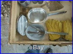 Estate Find. World War II U. S. German uniforms/costums helmet mess kit