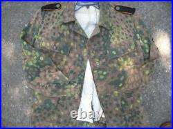 Excellent WW2 German 44 pea dot tunic and insignia