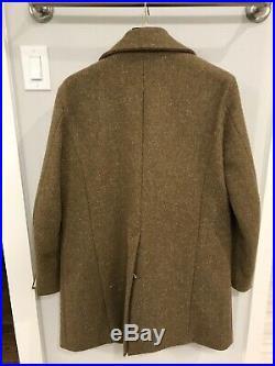 Frank Leder Greatcoat, heavy green wool, size large, MSRP $900
