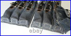 GERMAN ARMY LUFTWAFFE WW2 WWII REPRO 9mm ammo pouches for 6 mags AGED