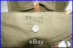 GERMAN ARMY WW2 REPRO PACK A-FRAME CZECH MADE with strap+pouch MARKED dyo 43