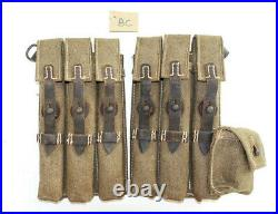 GERMAN ARMY WW2 WWII REPRO 9mm ammo pouches for 6 mags AGED inv #BC