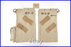 GERMAN ARMY WW2 WWII REPRO AFRIKAKORPS 9mm ammo pouches for 6 mags AGED inv #E6