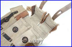 GERMAN ARMY WWII REPRO KURTZ 8mm AMMO POUCHES AGED REINFORCED inv# DR
