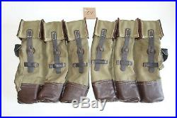 GERMAN ARMY WWII REPRO KURTZ 8mm AMMO POUCHES AGED reiforced bottoms inv# CV