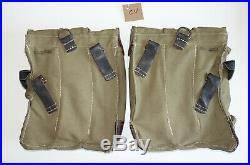 GERMAN ARMY WWII REPRO KURTZ 8mm AMMO POUCHES AGED reiforced bottoms inv# CV