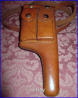 German Mauser C96 Broomhandle Leather Holster Replica New