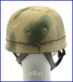 GERMAN WW2 M38 PARATROOPER FALLSCHIRMJAGER HELMET Green Tan Cammoflage