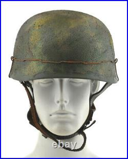 GERMAN WW2 M38 PARATROOPER FALLSCHIRMJAGER HELMET Normandy Camouflage 1136WWS
