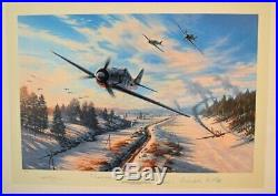 GREEN HEART WARRIORS by Nicolas Trudgian signed by Luftwaffe FW190 Aces