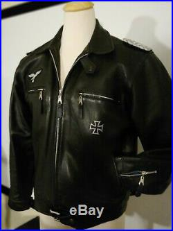 German Luftwaffe WW2 Flight Jacket Thick Steerhide Motorcycle Biker Jacket