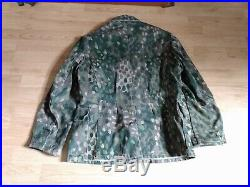 German S Short (36-38) Pea 44 Dot Camo Tunic and trousers 32in adjustable waist