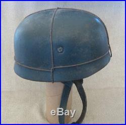 German WW2- M38 Paratrooper Helmet-Fallschirmjager- Aged- Size 59
