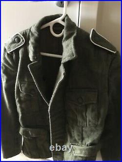 German WW2 Uniform M40 Reproduction (18in sleeve, 24in pants) Includes Helmet