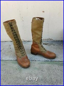 German WW2 WWII Tropical high boots DAK Africa Korps
