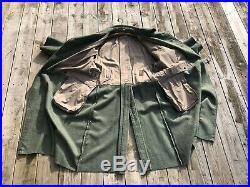 German WWII Feldgrau Green gray WOOL TRENCH COAT MANTEL XL 48 50 Stalingrad gear