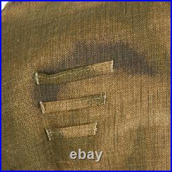 German WWII Wehrmacht M45 Linen Sumpftarn Pattern Jacket- Size Large (US 44-46)