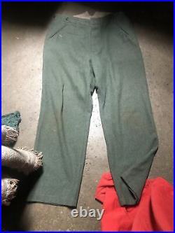 German WW 2, EM Uniform Tunic Sz XL Pants Sz 34 XX
