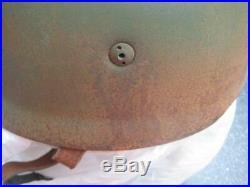 German WW II steel helmet paratrooper air-borne wehrmacht original antique item