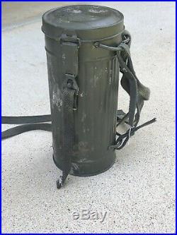 German ww2 Smock, Zeltbahn, Gas Mask Tin, Breadbag, Canteen, Bayonet, Carrier