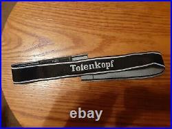 German ww2 Totenkopf Bevo Cuff Title with RZM