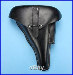 Grade B Repro Black Leather WWII German Walther P38 P-38 P1 Hardshell Holster
