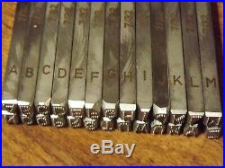 Harley VIN letters Set 7/32 dot