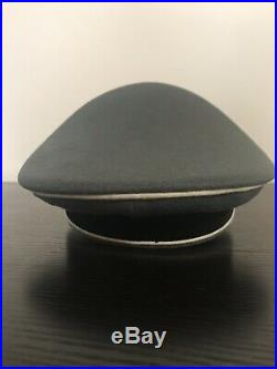 High Quality Aged Reproduction WW2 German Elite Military Officers Visor