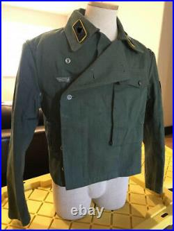 High Quality Reproduction WW2 German Army Tanker Combat HBT Wrap Tunic