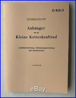 Kettenkrad Manuals Full set of 5 Wartime Manuals GERMAN Best quality available