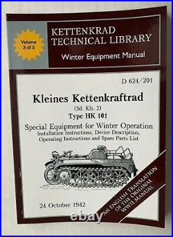 Kettenkrad Manuals Full set of 5 Wartime Manuals Translated to ENGLISH