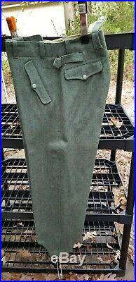 Lost Battalions WW2 German Reproduction Trousers Grey Wool Tapered Cuff M36