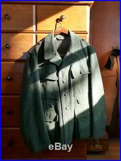 Lost Battalions Waffen M43 German tunic Large with original buttons and belt hooks