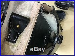 Lot of 10 WWII GERMAN LUGER P08 Hardshell BLACK LEATHER HOLSTER (10 units)
