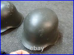 Lot of 3 Replica German WW2 WWII M38 2407 Steel METAL Helmet MOVIE PROPS