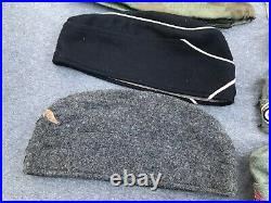 Lot of 9 Pieces Reproduction WWII German Overseas Caps Luftwaffe Helmet Covers